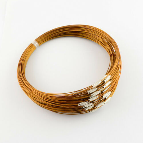 10Strand Stainless Steel Wire Necklace Cord DIY Craft Jewelry Necklace Making