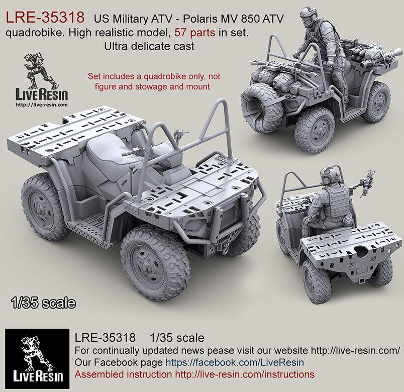 Live Resin 1 35 US ATV - Polaris MV 850 ATV Quadrobike High Realistic model