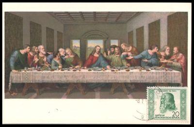 Maximumkarte Ddr Mi.nr 312 Leonardo Da Vinci 1952 SchnäPpchenverkauf Zum Jahresende Abendmahl