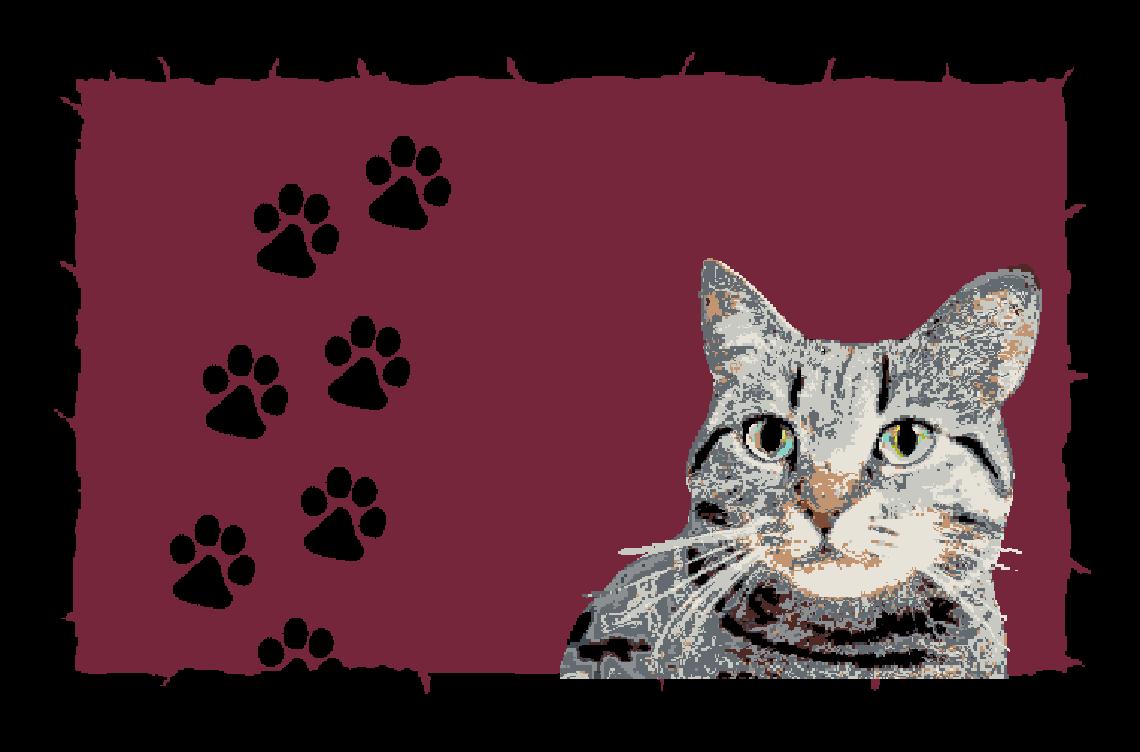 Fußmatte mit Namen Napfunterlage Katzenmatte  75x50 cm  Design 17180546 | Sofortige Lieferung