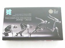 2012 Royal Mint London Olympic Games Countdown BU £5 Five Pound 4 Coin Set Boxed