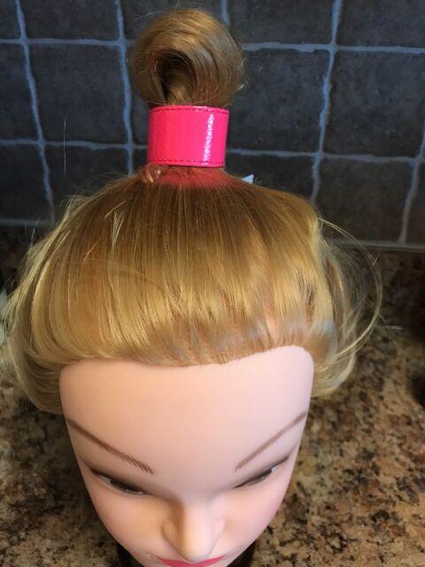 NEW Anthropologie Neon Pink Decorative Hair Tie Ponytail Slap Style FREE PEOPLE