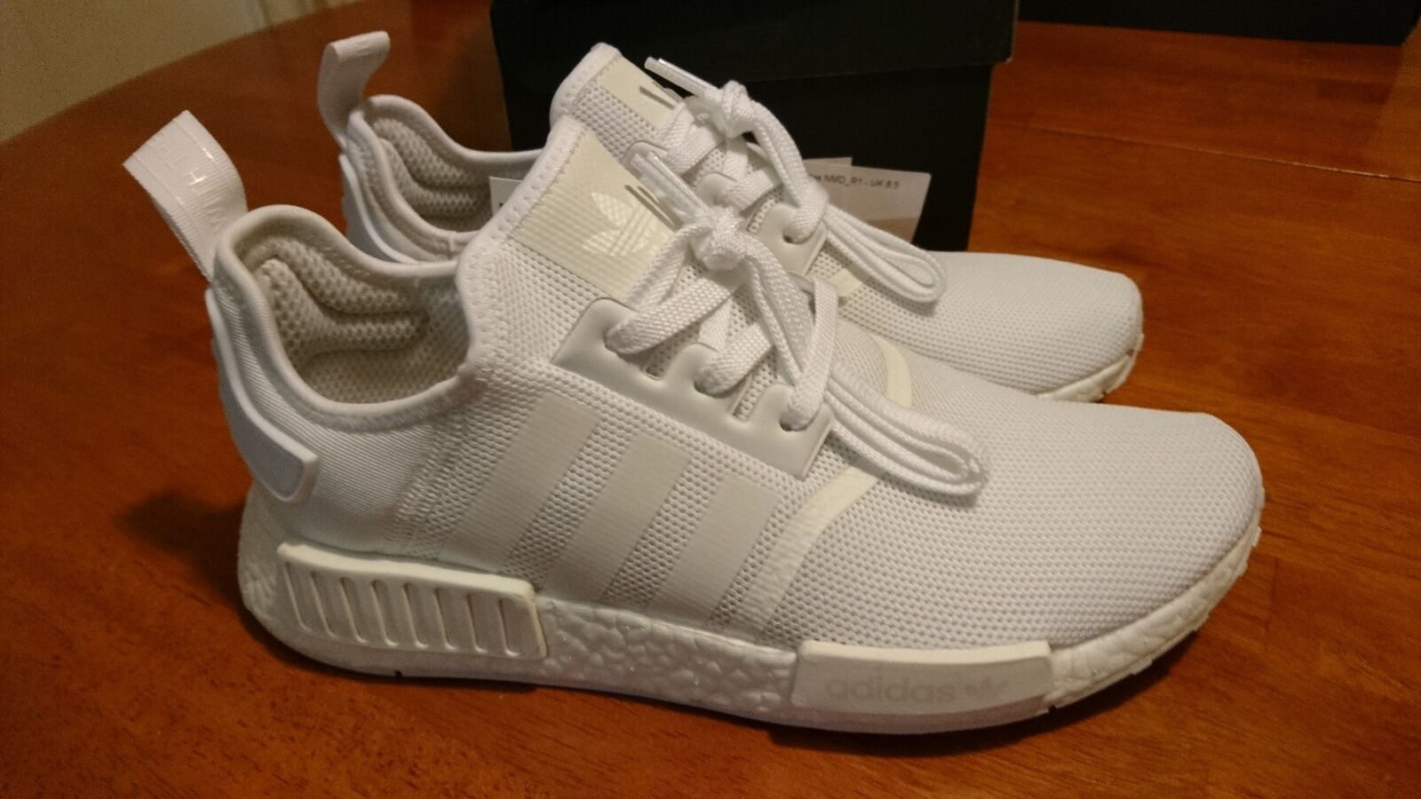 adidas Originals NMD R1 Boost Triple White Mens BA7245 US 9.5 Cheap women's shoes women's shoes