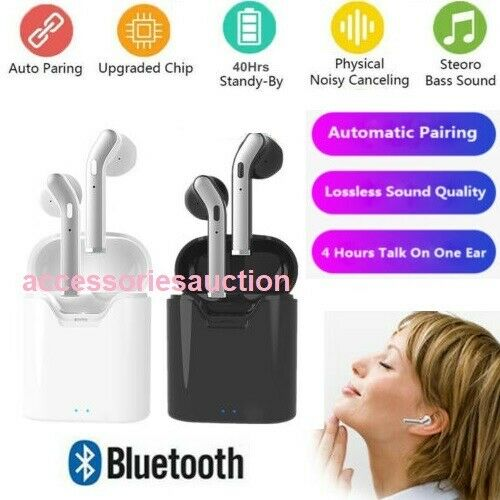 Twins Wireless Bluetooth In Ear Stereo Earphones For Iphone Samsung Htc Airpods Single White For Sale Online Ebay