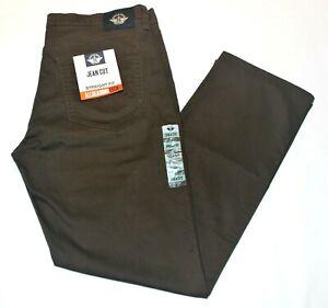 Men-039-s-Dockers-Dark-Brown-Jean-Cut-Straight-Fit-All-Seasons-Tech-Stretch-Pants