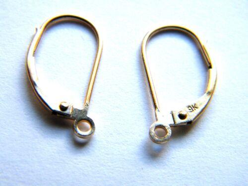 pendientes-hallazgos Venta-Oro amarillo 9ct Alambre de oreja continental para colgantes