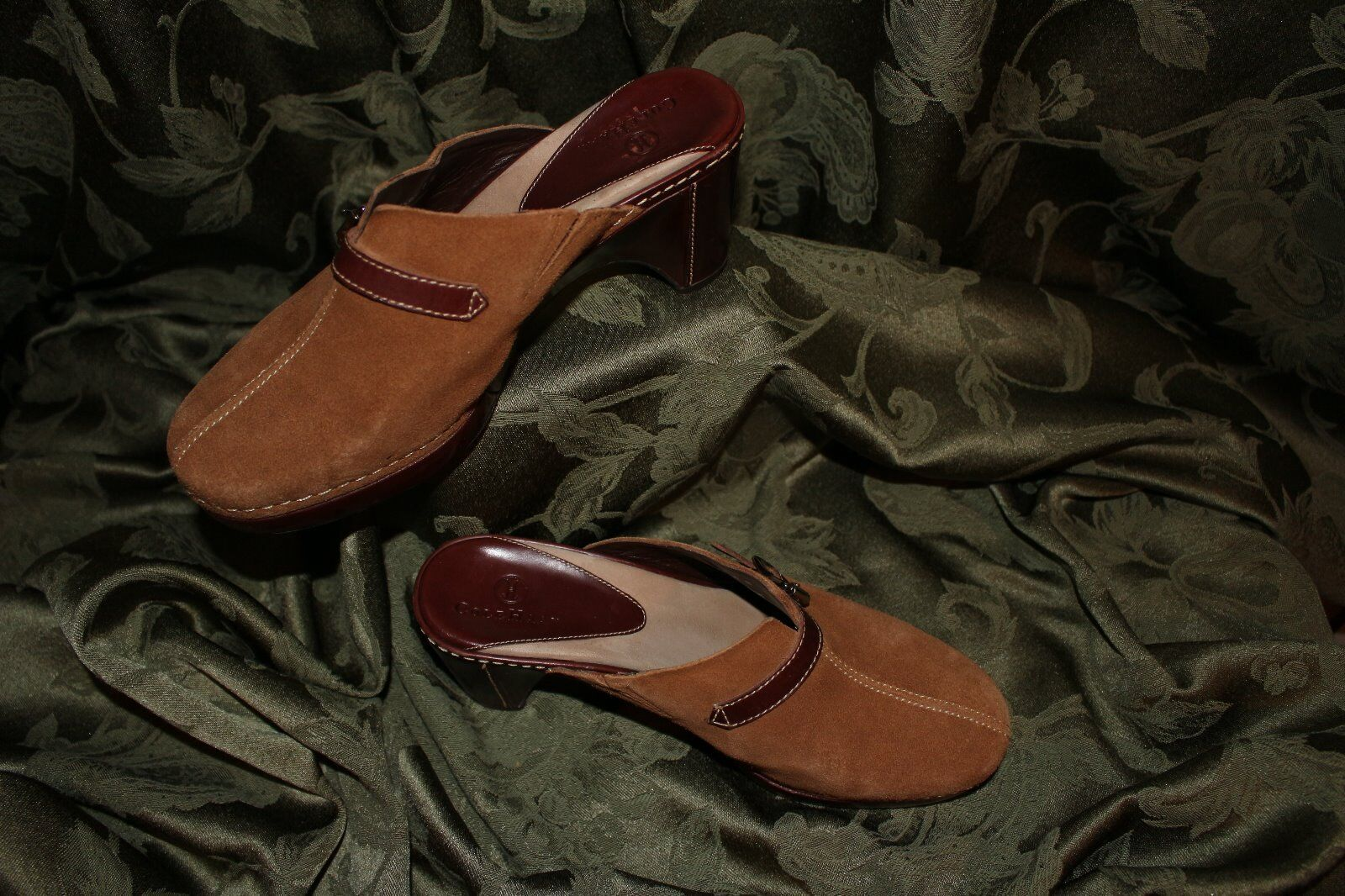 COLE HAAN [NWOB]:  Donna Brown Suede Donna  Mules Shoes, Size 6 B 7ddba4