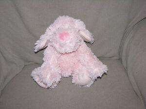 First Impressions Pink Puppy Dog Shaggy Plush Stuffed Animal Baby