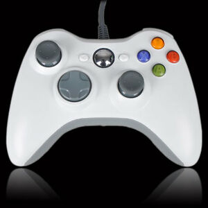 WHITE-WIRED-USB-CONTROLLER-FOR-MICROSOFT-XBOX-360-amp-PC-WINDOWS