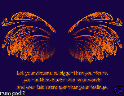Art Nouveau//Deco Poster//Print //Angel Wings//Inspirational Poster//17x22 inch