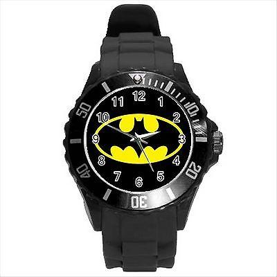 NEW* HOT BATMAN Unisex Black Round Sport Wrist Watch Gift