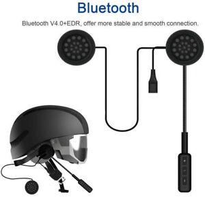 Motorcycle-Helmet-Headset-Speakers-Mic-Bluetooth-Handsfree-Music-Call-Control-US