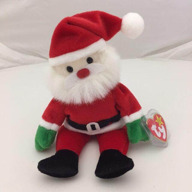 Vtg Santa Ty Beanie Baby Tag 1998 Original Christmas Claus Plush ... 2df784db178b