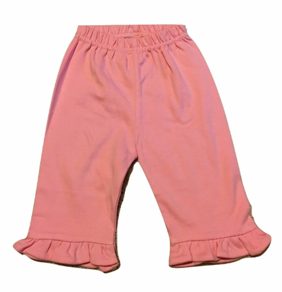 Ruffle Trimmed Ankle Pants Relaxed Fix 100/% Cotton Many Colors SUPER SOFT 3M-6T