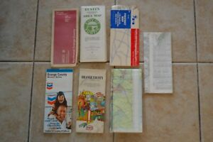 Vintage-Orange-County-California-Street-Maps-Freeway-Tustin-Texaco-Chevron-7