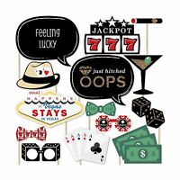 Las Vegas - Casino Photo Booth Props Kit - 20 Count Free Shipping