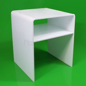 Incroyable Image Is Loading White Acrylic Plastic Table With Shelf Coffee Table