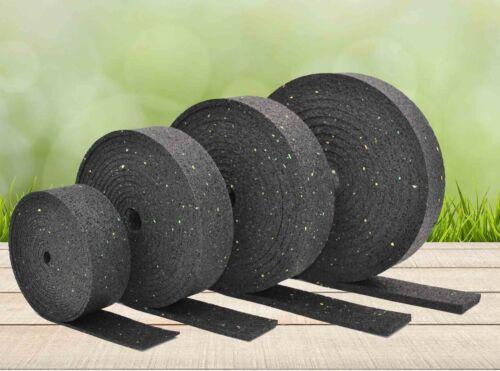 5.000 x 80 x 8mm Gummigranulat Rollen Streifen Terrassen Pads Stelzlager