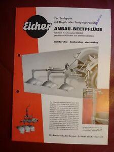 Eicher Anbau Beetpflüge Typ AG & AGR 122 123 124 umfassend 4 seitig 1963 - Lübeck, Deutschland - Eicher Anbau Beetpflüge Typ AG & AGR 122 123 124 umfassend 4 seitig 1963 - Lübeck, Deutschland