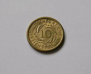 Weimar: 10 Reichspfennig 1934 Para , J. 317 ,Fast sin Circulación, Muy Raro