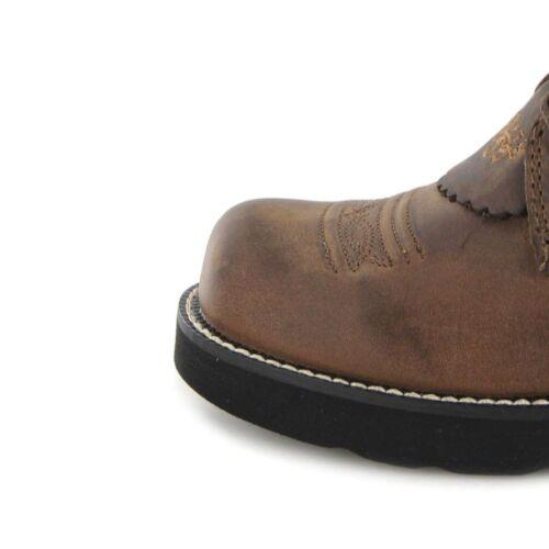 Ariat 1090 PROBABY LACER Brown Lederstiefel für Damen Braun Westernreitstiefel