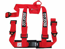 """Sparco Racing Street 3 Point Bolt-In 2"""" Seat Belt Harness (Red)"""