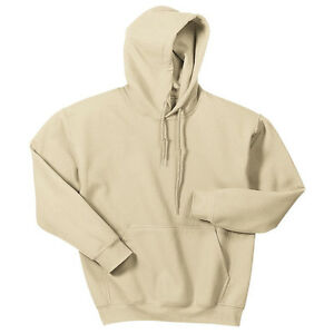 Hooded Sweatshirt Men's Adult Blank Hoodie Heavy Blend 8 oz Sand ...