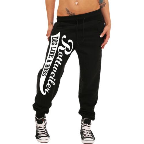 Le donne Jogging Pantaloni Rottweiler Sweatpants Pantaloni CANE CANI GIRLS RAGAZZA DONNA