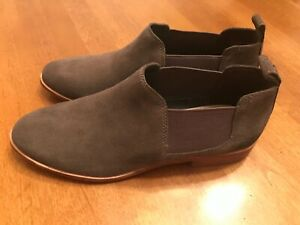 G-H-Bass-amp-Co-Womens-Suede-Leather-Closed-Toe-Ankle-Boots-Taupe-Gray-Size-8-5M