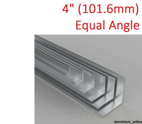 """3 thickness 101.6mm ALUMINIUM EQUAL ANGLE 4/"""" lengths up to 2.5m"""