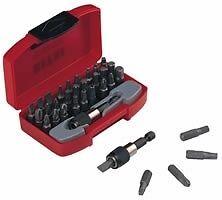 Teng-Tools-1-4-Drive-Torx-Phillips-Cacciavite-Piatto-Bit-Set-Rapido-Chuck-Holder