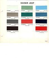 1963 1964 1965 KAISER JEEP TRUCKS 63 64 65 PAINT CHIPS DUPONT 13