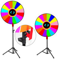 Editable 24 Color Prize Wheel With Stand Trade Show Fortune Spinning Game Us
