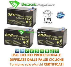 kit batterie 36v 12ah gel agm cicliche deep cycle bici. Black Bedroom Furniture Sets. Home Design Ideas