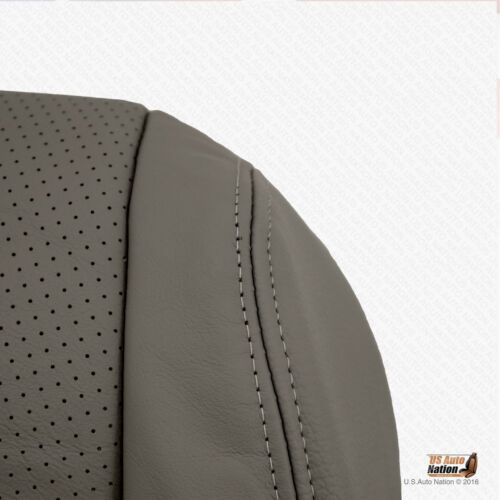 For 2006 Acura TL Driver Bottom Replacement Perforated Leather Seat Cover Gray