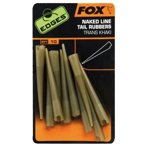 10 pièces Fox Edges Naked Line tail rubbers-carpes rig montage accessoires