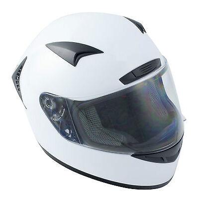 SCOOTER MOTORBIKE ROAD MOTORCYCLE FULL FACE CRASH HELMET OPTIONAL TINTED VISOR