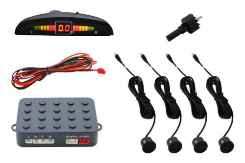 Car Parking Reverse BLACK Sensors Reversing Backup Alarm Radar LED Display //5800