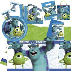 Disney-Monster-University-Mike-Sulley-Couverts-de-Table-Fete-Soiree-Decorations