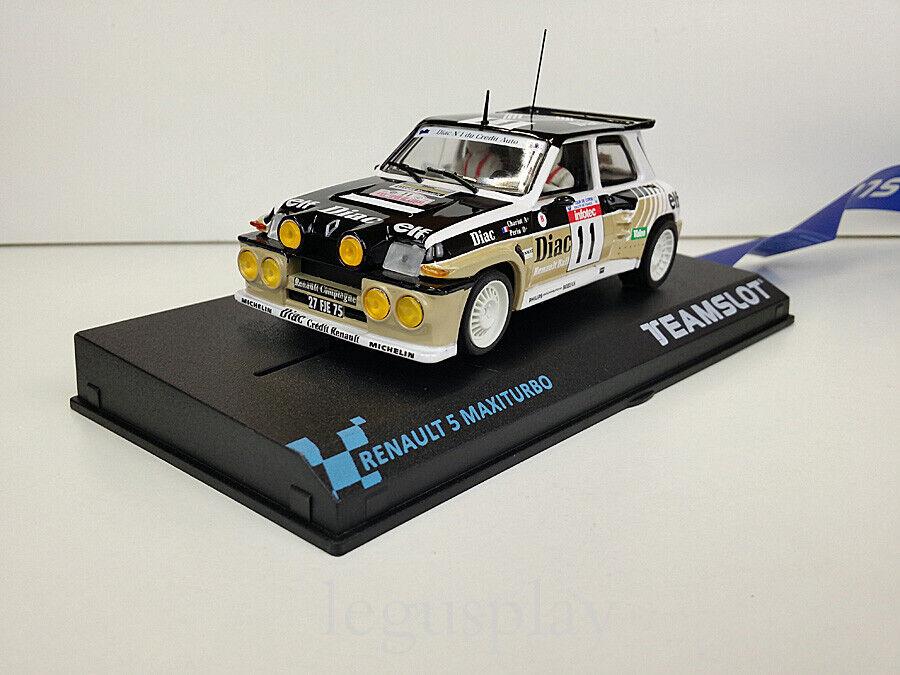 "Slot Car Scalextric Team Slot 12106 Renault 5 Maxiturbo ""DIAC"""