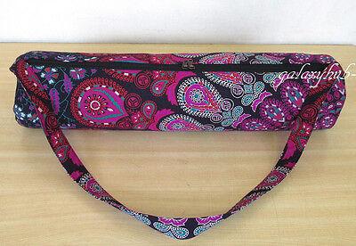 New Pink Lavender Mandala Yoga Mat Carrier Gym Exercise Bag With Shoulder Strap