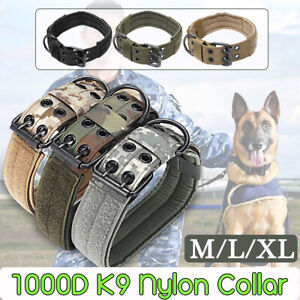 1000D-Nylon-Military-Tactical-Adjustable-Dog-Training-Collar-Leash-Metal-Buckle
