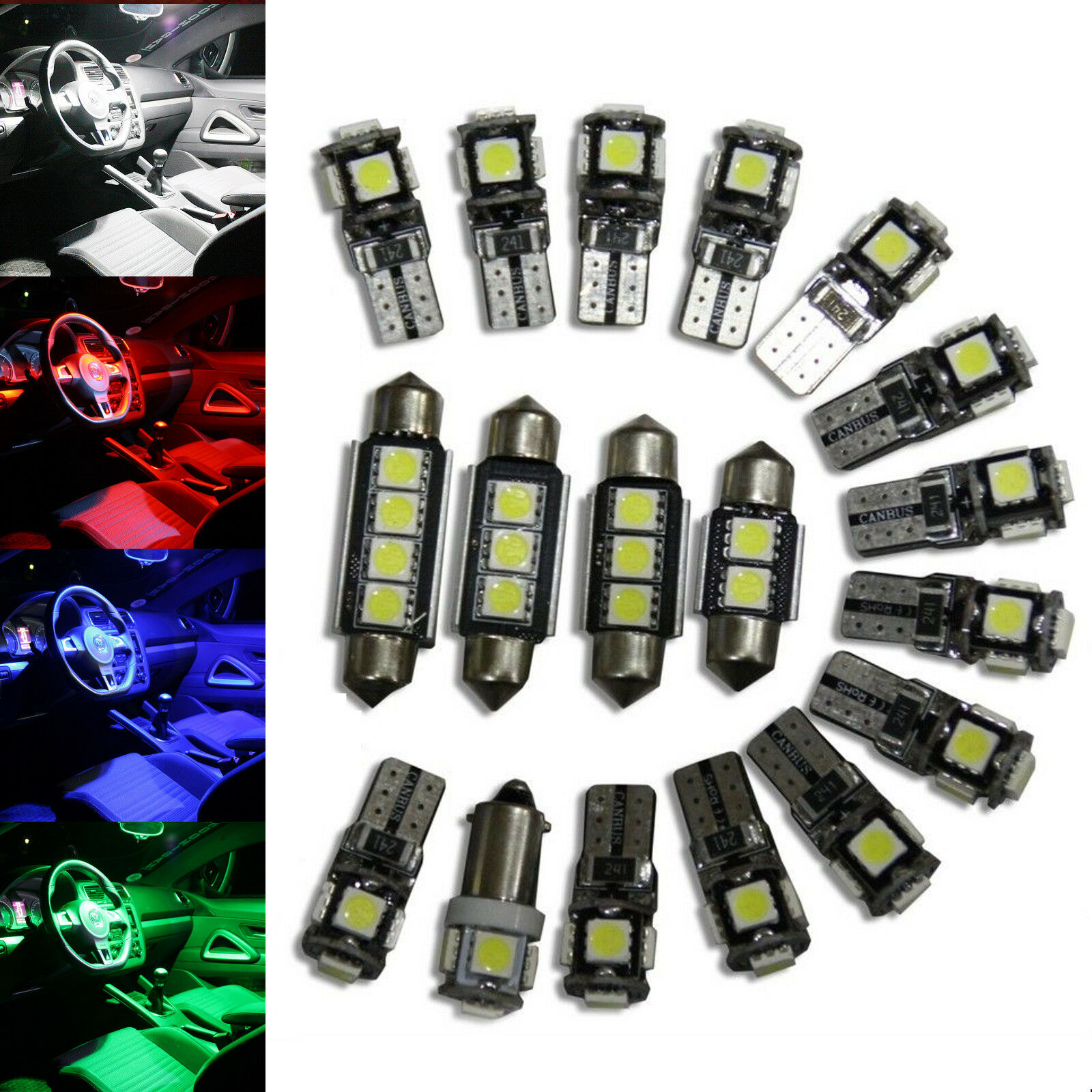 Interior Lights Package Kit 6 LED BMW 3er E46 Compact white red blue green