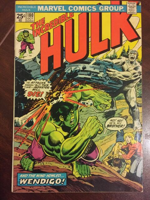 885eb73a6b3d The Incredible Hulk #180 (Oct 1974, Marvel) Mark Jewelers Insert first  Wolverine