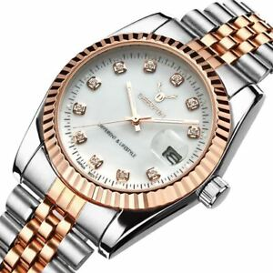 Ladies-Watch-Gold-Silver-Women-Woman-Smart-Watches-Two-Tone-Gift-Present-UK