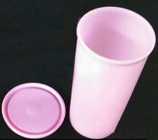 Tupperware Textured Straight Edge Tumbler & Seal Light Pink 12-oz New