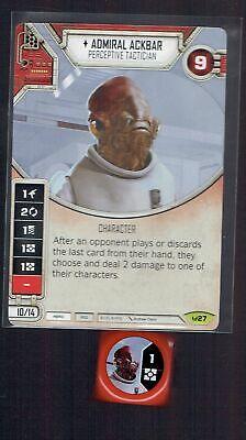2x Admiral Ackbar x2 Rare Awakenings Star Wars Destiny SWD UNPLAYED MINT