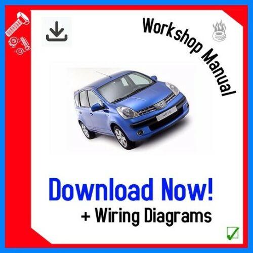 Workshop Repair Manual For Nissan NOTE 2006-2013 DOWNLOAD