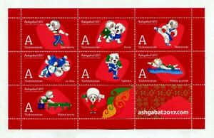 Postage-Stamps-of-Turkmenistan-034-V-Asian-Indoor-and-Martial-Arts-Games-034-1