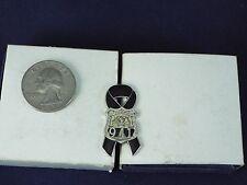 911 CITY OF NEW YORK POLICE BLACK RIBBON PIN